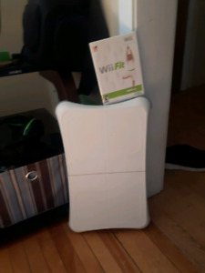 Wii fit and balance board.