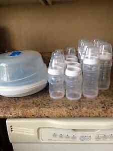 Bottle Sterilizer and 18 Bottles