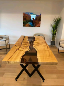 Epoxy table , kitchen table, dining table