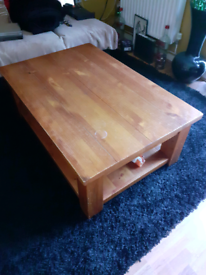Large Solid Wood Low Table