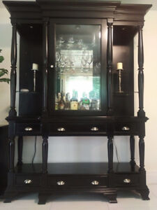 Solid wood 2 piece Dining room hutch or entrance table