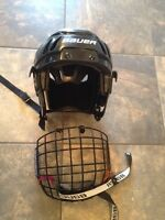 Kids Bauer Jr. Helmet and mask.