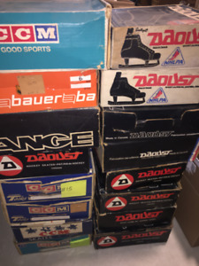 OLD VINTAGE 1960/70S  ICE HOCKEY SKATES IN ORIGINAL BOXES - NOS