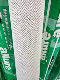 Grey wool herringbone pattern carpet (free delivery)