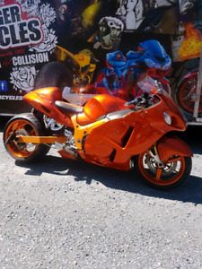 2005 Hayabusa Custom 300mm wide tire Slinger Cycles build