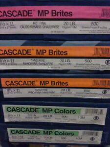 Lot of 5 reams of 500 sheets florescent coloured paper London Ontario image 2
