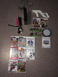 Black Wii and accessories for sale