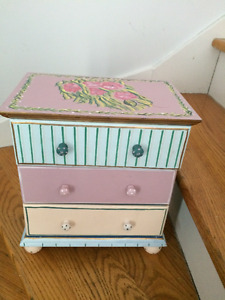 Little Girl's toy night table. or Makeup drawers