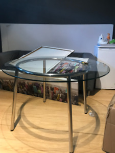 Moving Sale - Furniture - Chairs + Glass Top Table