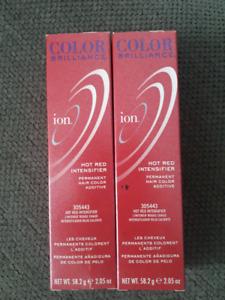 Red hair dye intensifier/additive