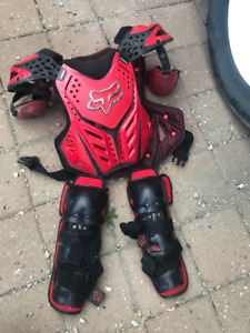 FOX Chest Protector and Knee Pads