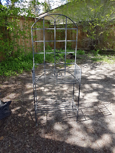 Two Tall Metal Plant Stands