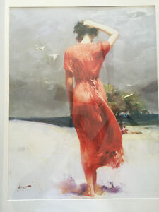 Woman in Red, art print in frame West Island Greater Montréal image 2