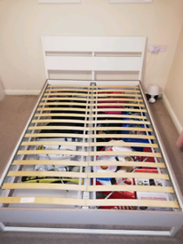 IKEA bed frame white