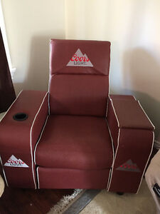 Coors light Superbowl recliner with built in cooler.