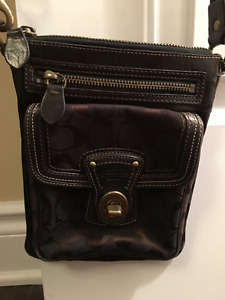 Coach crossbody bag brown mint condition!