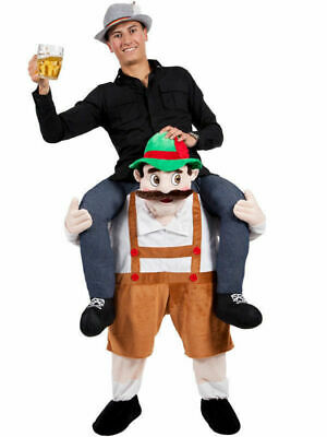 Herren Damen Karneval Kostüm Bayerische Huckepack Trage Carry Me Party - Carry Me Kostüm