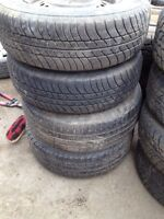Set of 2 p195/75r14 motomaster all season tires on 5x100 mm