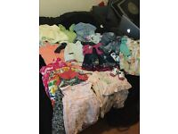 Collection of baby girl clothes 3-6 months