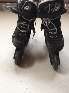 Roller skates with elbow/knee pads