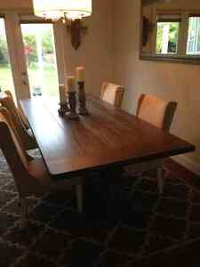 Rustic / Modern Solid Wood Grey Dining Table
