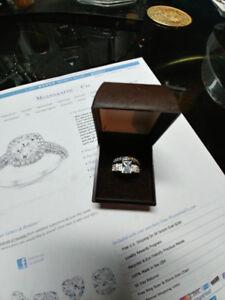 Ladies 10k w- gold,  4.0 ct. (carat) Dia. Eng- Ring set.