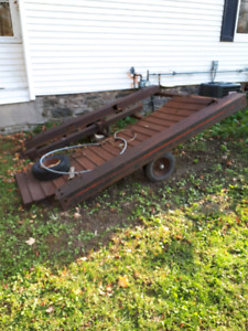 Old Sled Trailer