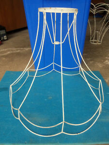 Lamp shade wire frames