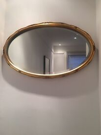 Bevelled Antique golden mirror