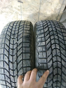 Two 185/60r14 winter tires