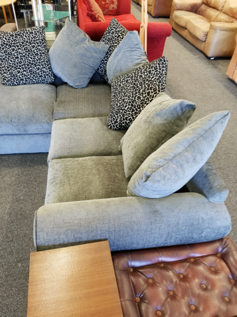 promo code e47af b46f3 Wyvern 2x2 grey fabric corner sofa, excellent condition | in Blyth,  Northumberland | Gumtree