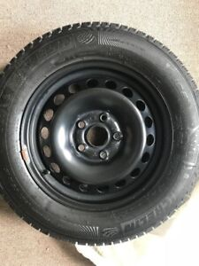 "LIKE NEW 15"" rims with Mich X-Ice Winter tires 195/65/15"