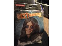 Ozzy Osborne wig and accessories