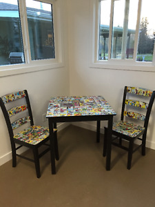 Spiderman Comic Book Table & Chairs