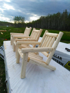 Custom made rustic log furniture