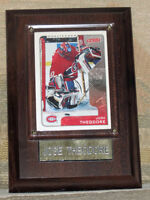 Jose Theodore Montreal Canadians Hockey Card Plaque (Now $5.00)