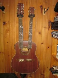 Double neck acoustic / electric guitar