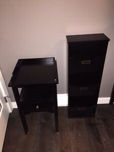 Side table and organizer