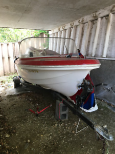 14' Anchor Boat with 33Hp Johnson motor and trailer