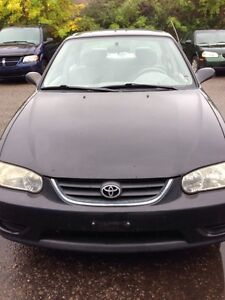 2001 toyota corolla w/safety and e-test