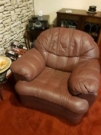 3 + 1 leather sofa