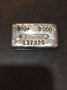 Wanted to buy Old Pour Engelhard .999 fine silver bars RARE TOP$