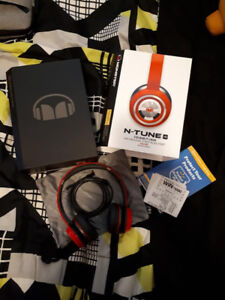 MONSTER N-TUNE HD (race red) Headphones (box included)