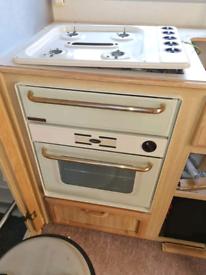 Caravan cooker and hob
