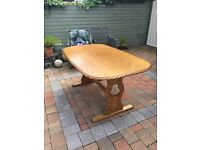 Solid oak table kitchen table