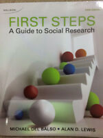 FIRST STEPS: A GUIDE to SOCIAL RESEARCH, Micheal Del Balso