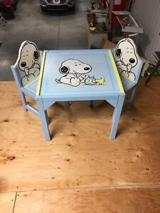 "Snoopy ""Little Buddies"" desk/table and 2 chairs for sale"
