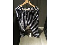 Zara pin stripped trousers size M