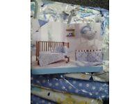 Baby boy Clair de Lune Cot bumper & quilt set!