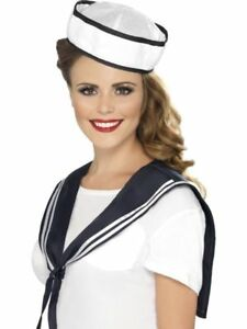 Sailor Kit Hat & Scarf Instant Kit Women Men Navy Unisex Fancy Dress Accessory